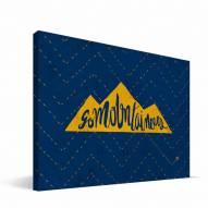 "West Virginia Mountaineers 8"" x 12"" Mascot Canvas Print"