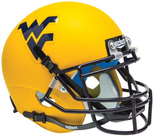 West Virginia Mountaineers Alternate 2 Schutt Mini Football Helmet