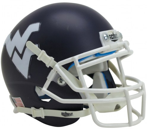 West Virginia Mountaineers Alternate 6 Schutt Mini Football Helmet