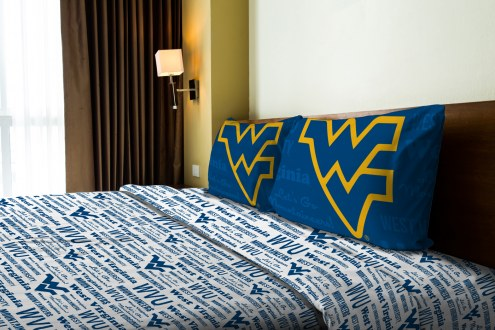 West Virginia Mountaineers Anthem Full Bed Sheets