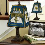 West Virginia Mountaineers Art Glass Table Lamp