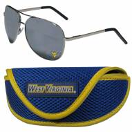 West Virginia Mountaineers Aviator Sunglasses and Sports Case