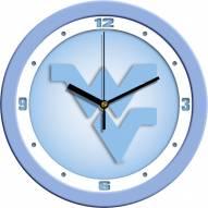 West Virginia Mountaineers Baby Blue Wall Clock