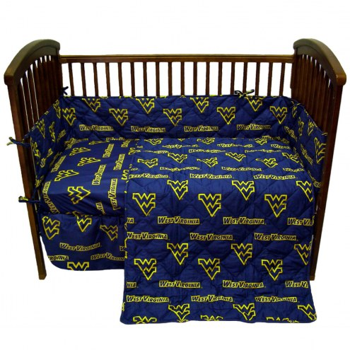 West Virginia Mountaineers Baby Crib Set