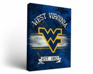West Virginia Mountaineers Banner Canvas Wall Art
