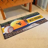 West Virginia Mountaineers Baseball Runner Rug