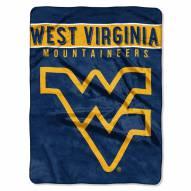 West Virginia Mountaineers Basic Plush Raschel Blanket