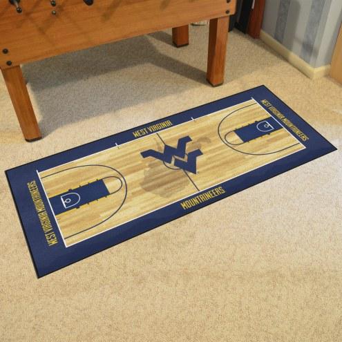 West Virginia Mountaineers Basketball Court Runner Rug