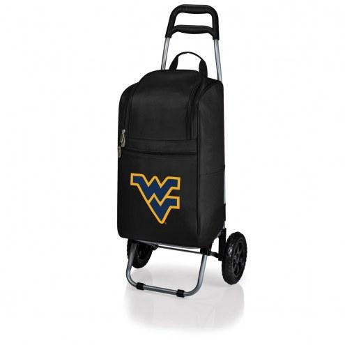 West Virginia Mountaineers Black Cart Cooler