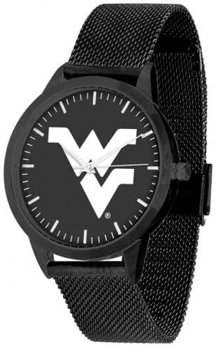 West Virginia Mountaineers Black Dial Mesh Statement Watch