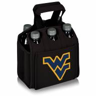 West Virginia Mountaineers Black Six Pack Cooler Tote