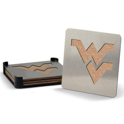 West Virginia Mountaineers Boasters Stainless Steel Coasters - Set of 4