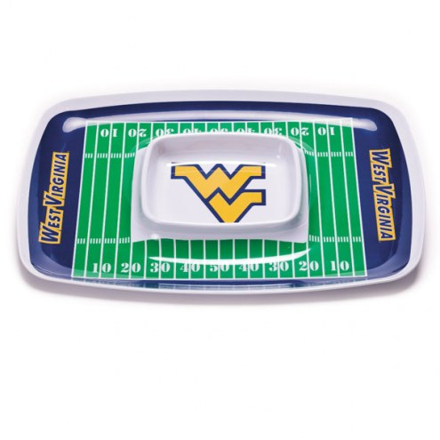 West Virginia Mountaineers Chip & Dip Tray