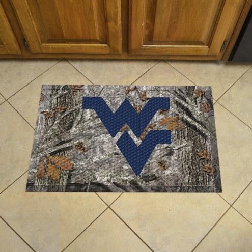 West Virginia Mountaineers Camo Scraper Door Mat