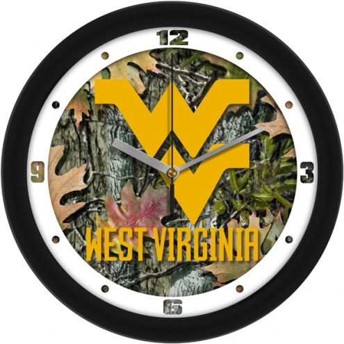 West Virginia Mountaineers Camo Wall Clock