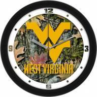 West Virginia Mountaineers Camo Wall Clock