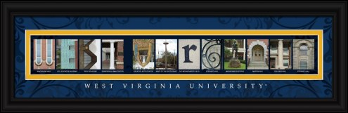 West Virginia Mountaineers Campus Letter Art