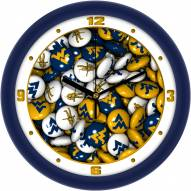 West Virginia Mountaineers Candy Wall Clock
