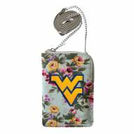 West Virginia Mountaineers Canvas Floral Smart Purse