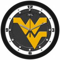 West Virginia Mountaineers Carbon Fiber Wall Clock