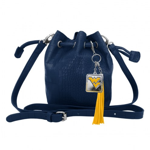 West Virginia Mountaineers Charming Mini Bucket Bag