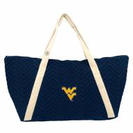 West Virginia Mountaineers Chevron Stitch Weekender Bag