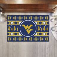 West Virginia Mountaineers Christmas Sweater Starter Rug