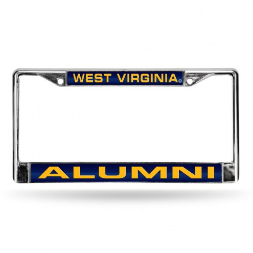 West Virginia Mountaineers Chrome Alumni License Plate Frame