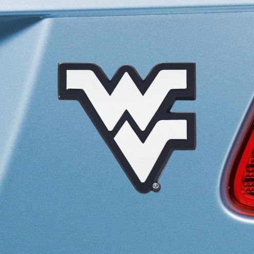 West Virginia Mountaineers Chrome Metal Car Emblem