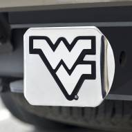 West Virginia Mountaineers Chrome Metal Hitch Cover
