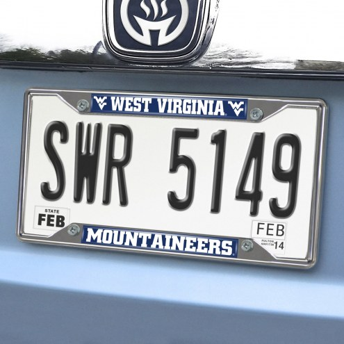 West Virginia Mountaineers Chrome Metal License Plate Frame