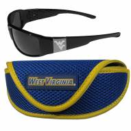 West Virginia Mountaineers Chrome Wrap Sunglasses & Sports Case