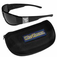 West Virginia Mountaineers Chrome Wrap Sunglasses & Zippered Carrying Case
