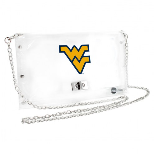 West Virginia Mountaineers Clear Envelope Purse