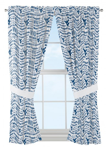 West Virginia Mountaineers Anthem Curtains