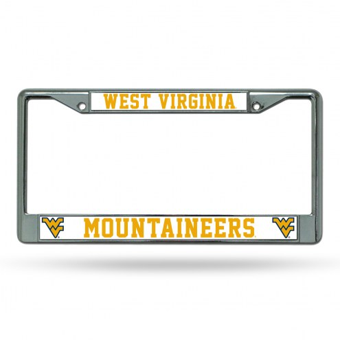 West Virginia Mountaineers College Chrome License Plate Frame