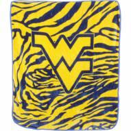 West Virginia Mountaineers Raschel Throw Blanket