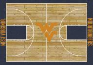 West Virginia Mountaineers College Home Court Area Rug