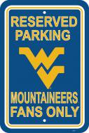 West Virginia Mountaineers College Parking Sign