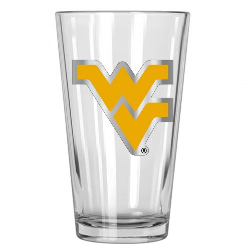 West Virginia Mountaineers College 16 Oz. Pint Glass 2-Piece Set