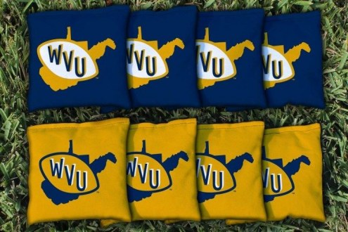 West Virginia Mountaineers College Vault Cornhole Bag Set