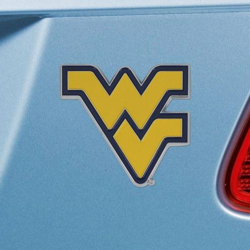 West Virginia Mountaineers Color Car Emblem