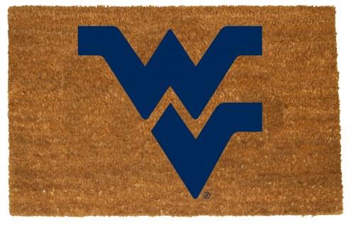 West Virginia Mountaineers Colored Logo Door Mat