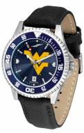 West Virginia Mountaineers Competitor AnoChrome Men's Watch - Color Bezel