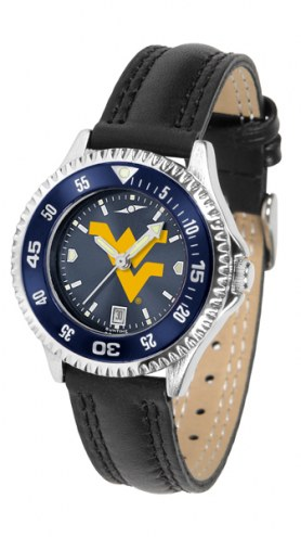 West Virginia Mountaineers Competitor AnoChrome Women's Watch - Color Bezel