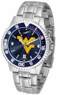 West Virginia Mountaineers Competitor Steel AnoChrome Color Bezel Men's Watch
