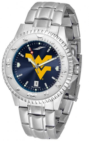 West Virginia Mountaineers Competitor Steel AnoChrome Men's Watch
