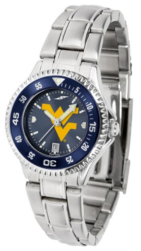 West Virginia Mountaineers Competitor Steel AnoChrome Women's Watch - Color Bezel