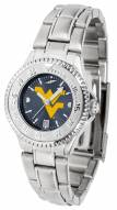 West Virginia Mountaineers Competitor Steel AnoChrome Women's Watch