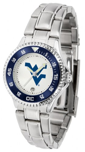 West Virginia Mountaineers Competitor Steel Women's Watch